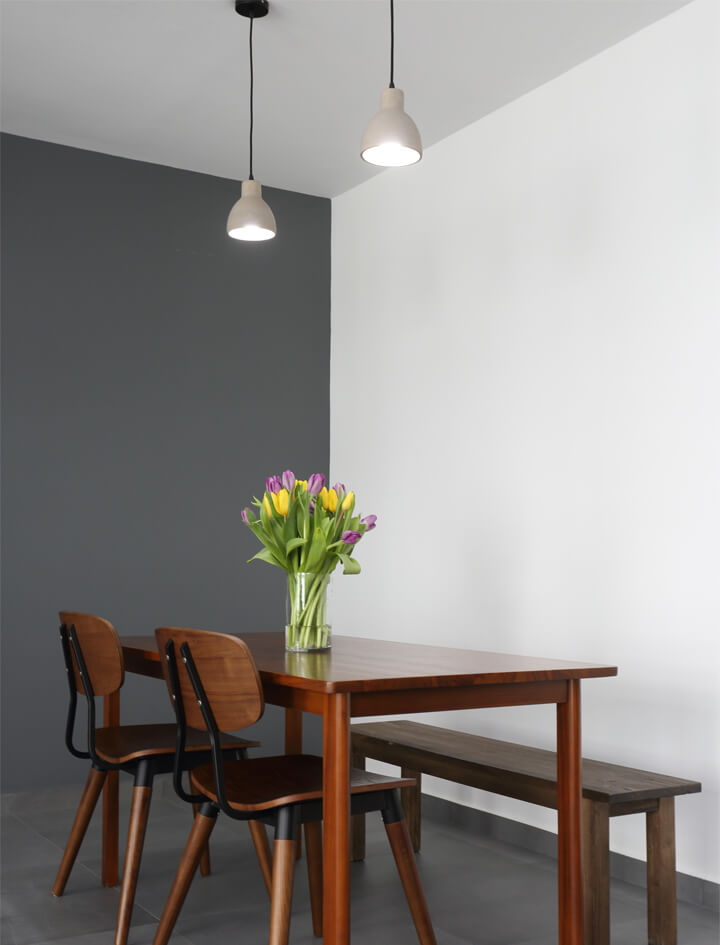 Simplicity And Function Interior Design Dining Area with Down Light
