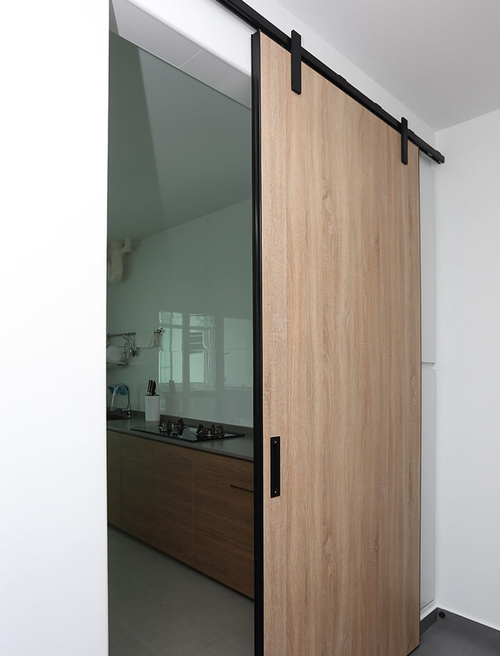 Simplicity And Function Interior Design Sliding Door View