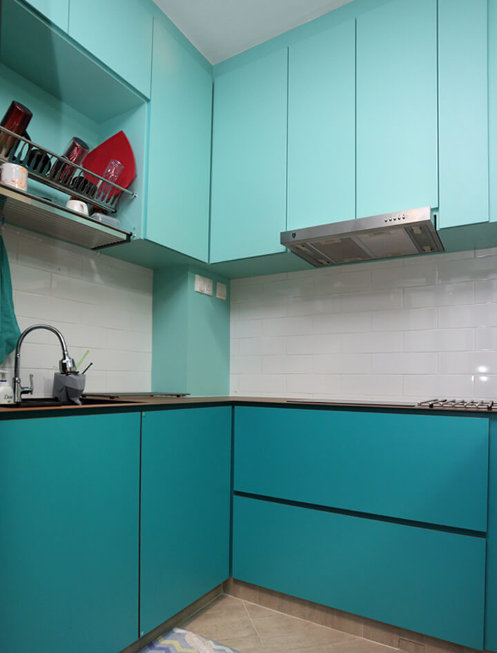 Colourful Space Interior Design Kitchen Corner with Wares