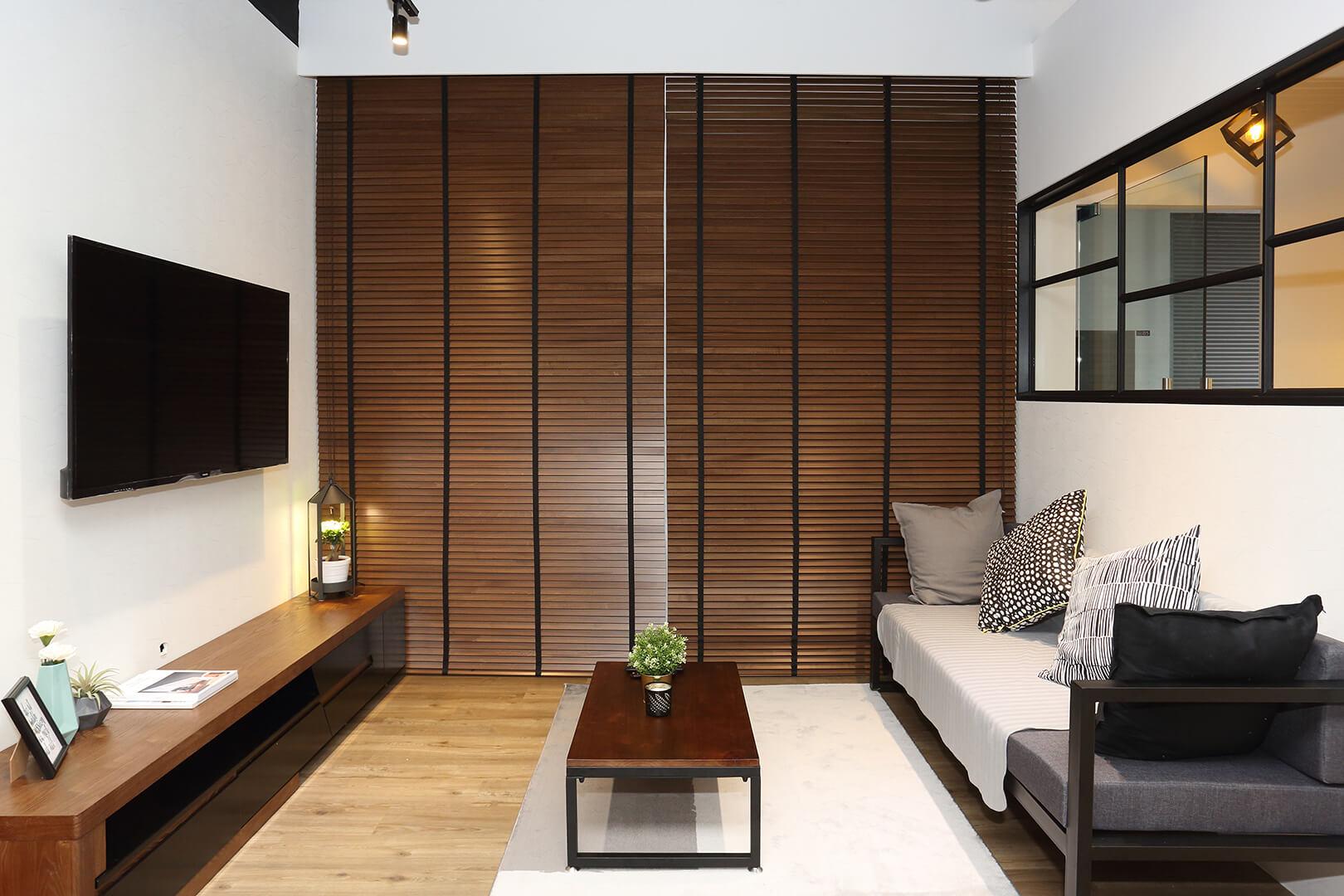Monoloft's Design Studio Renovation Living Space Side View