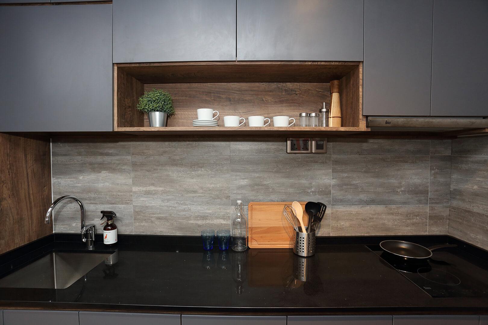 Monoloft's Design Studio Renovation Kitchen Top with Cabinet