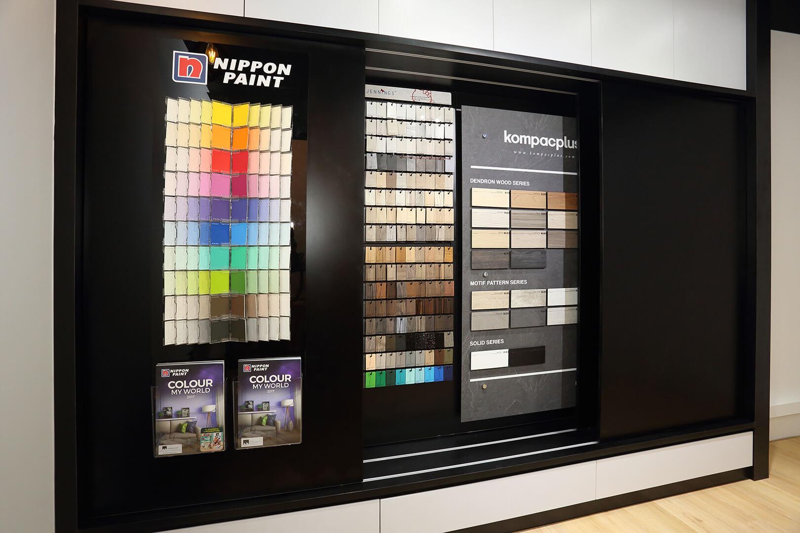 Monoloft's Design Studio Renovation Color Charts Shelve