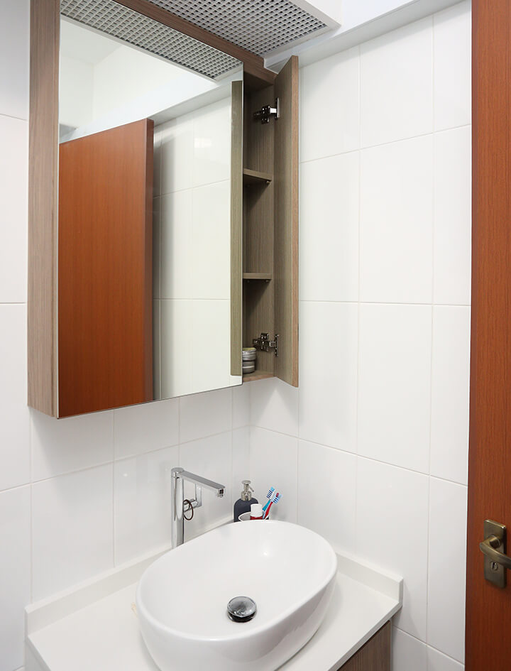 Minimalist Home Interior Design Singapore Washroom with Mirror