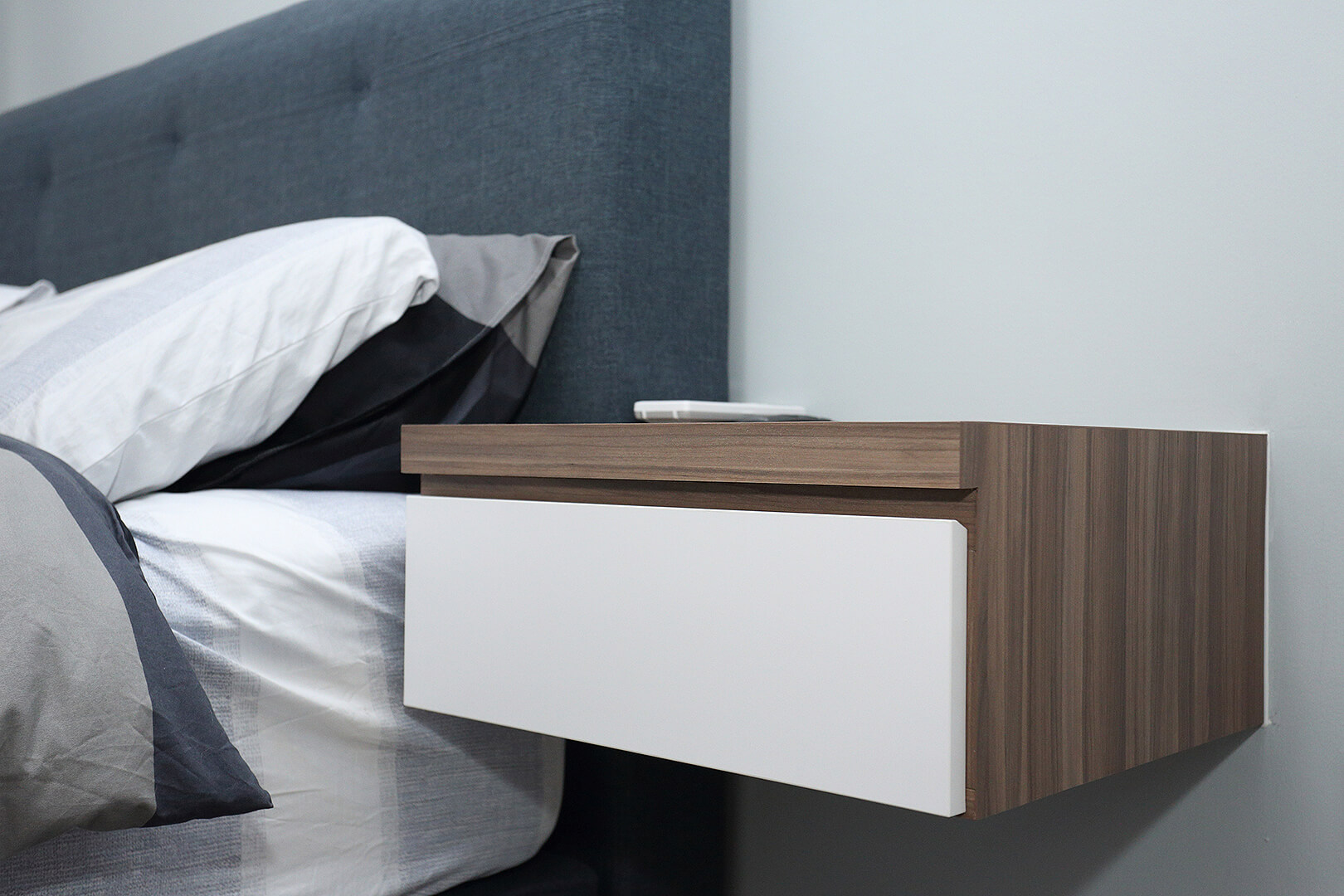 Minimalist Home Interior Design Singapore Bedroom Drawer Wooden White Cover