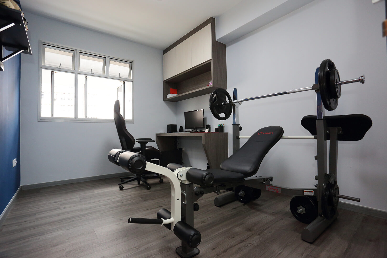 Minimalist Home Interior Design Singapore Room with GYM Equipment