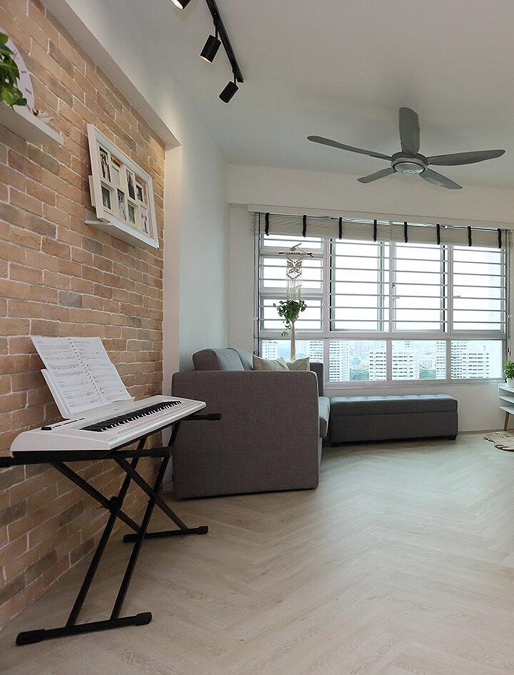 Scandinavian Interior Design Singapore Keyboard with Window View