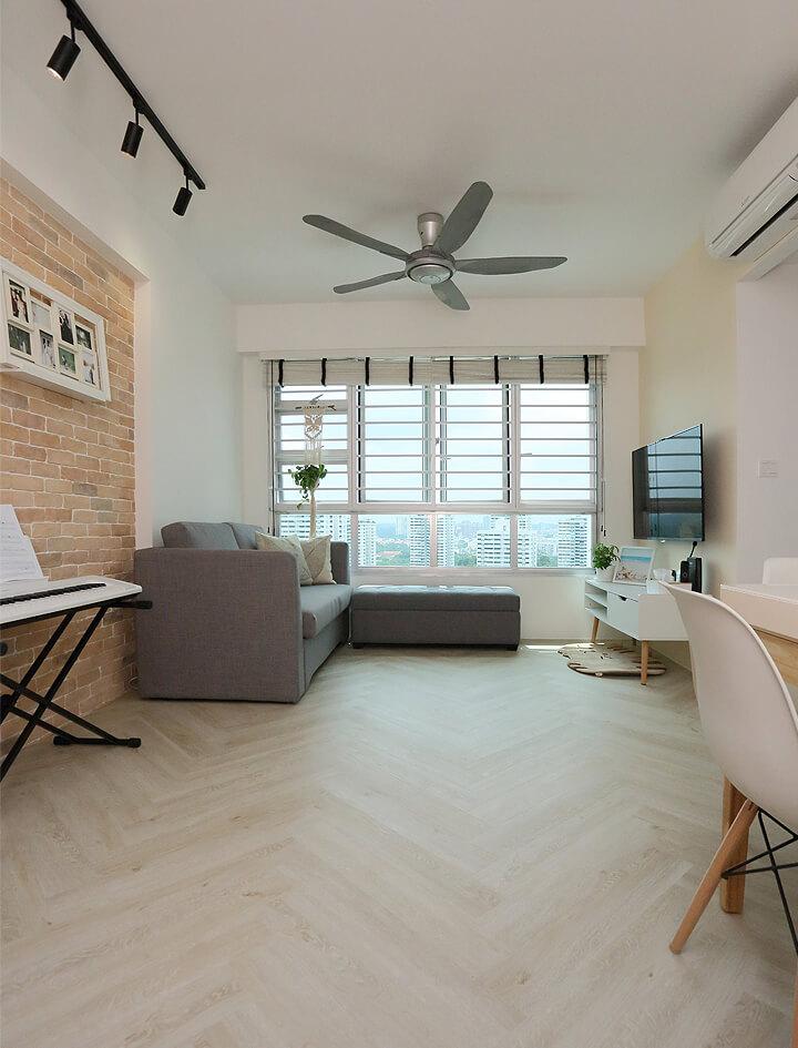Scandinavian Interior Design Singapore Living Room Side View