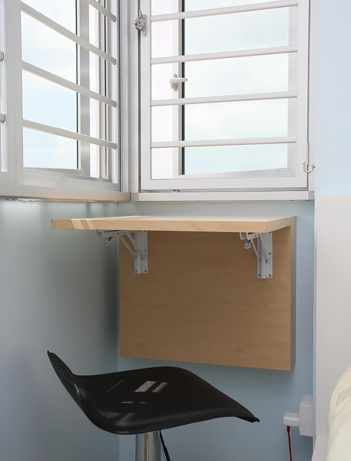 Scandinavian Interior Design Singapore Mini Table with Window Grills