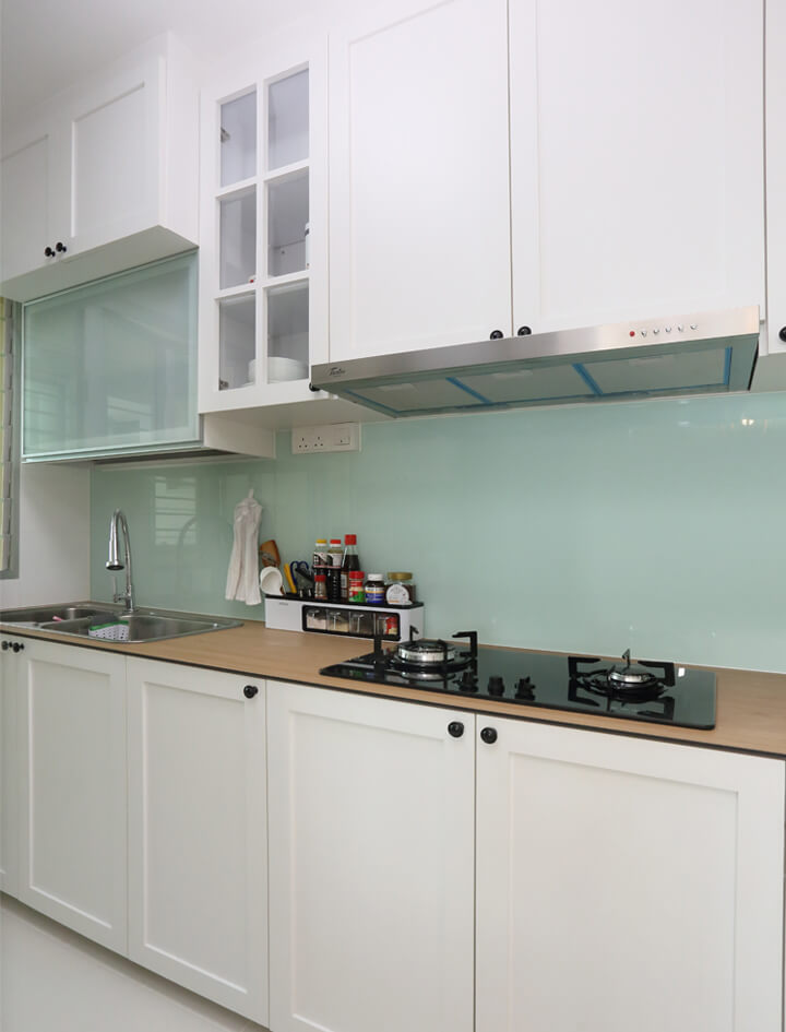 Scandinavian Interior Design Singapore Kitchen Cabinet Two Rows