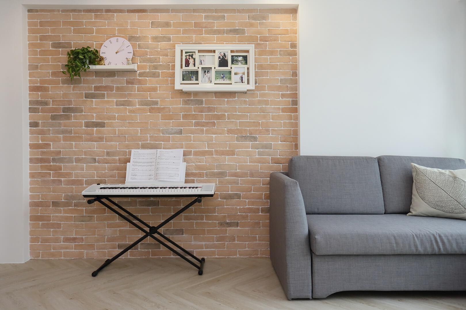 Scandinavian Interior Design Singapore Sofa and Keyboard