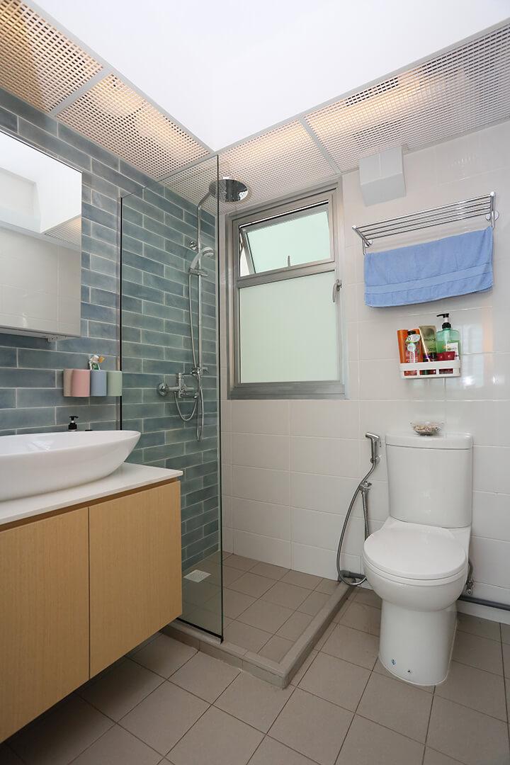 Scandinavian Interior Design Singapore Bathroom with Modern Facility
