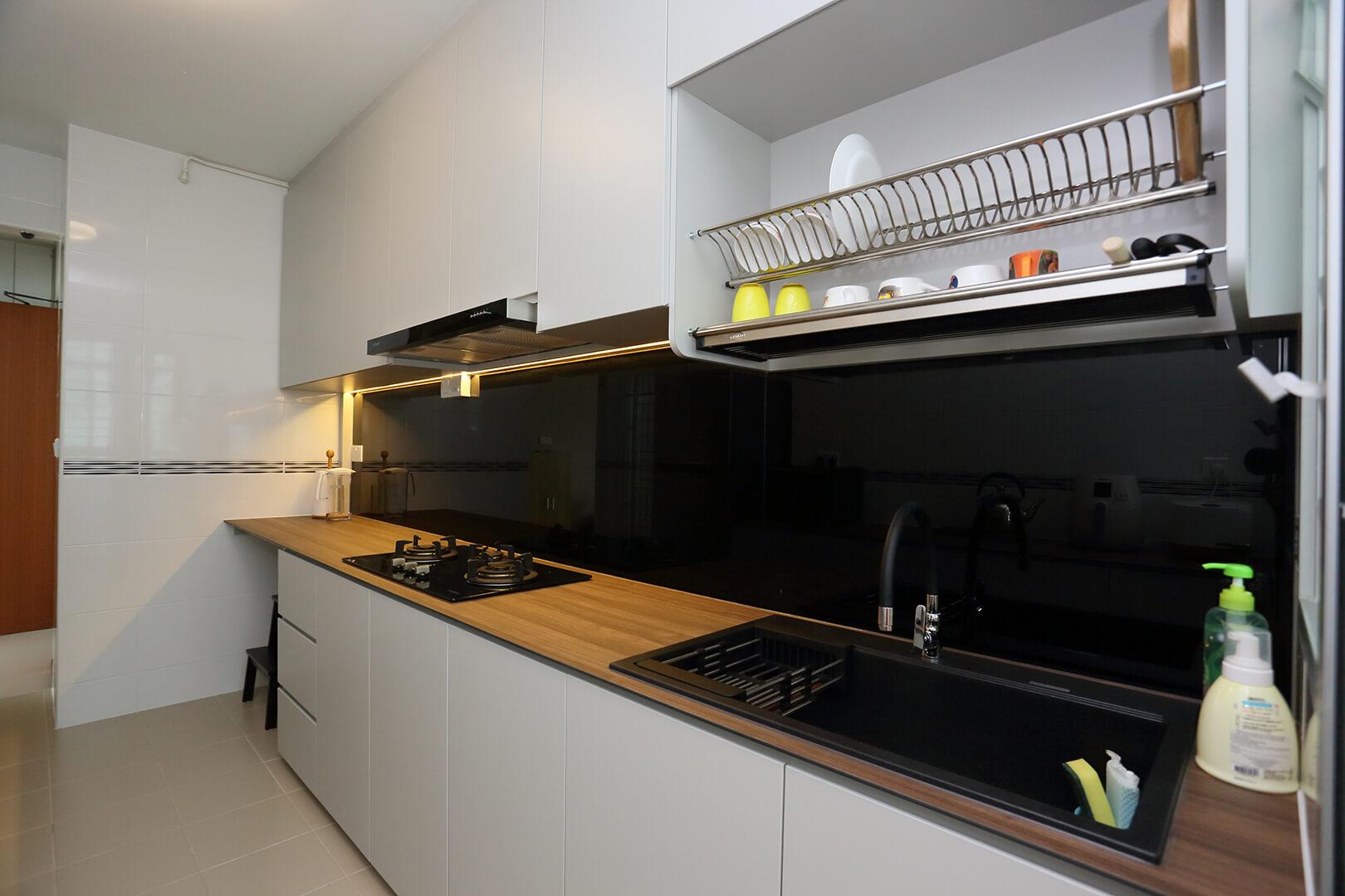 Neutral Colours Interior Design Kitchen Top View