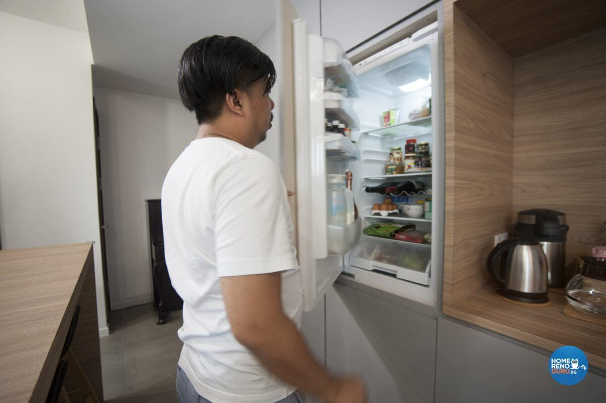 Pine And Grey Interior Design Owner Open Fridge