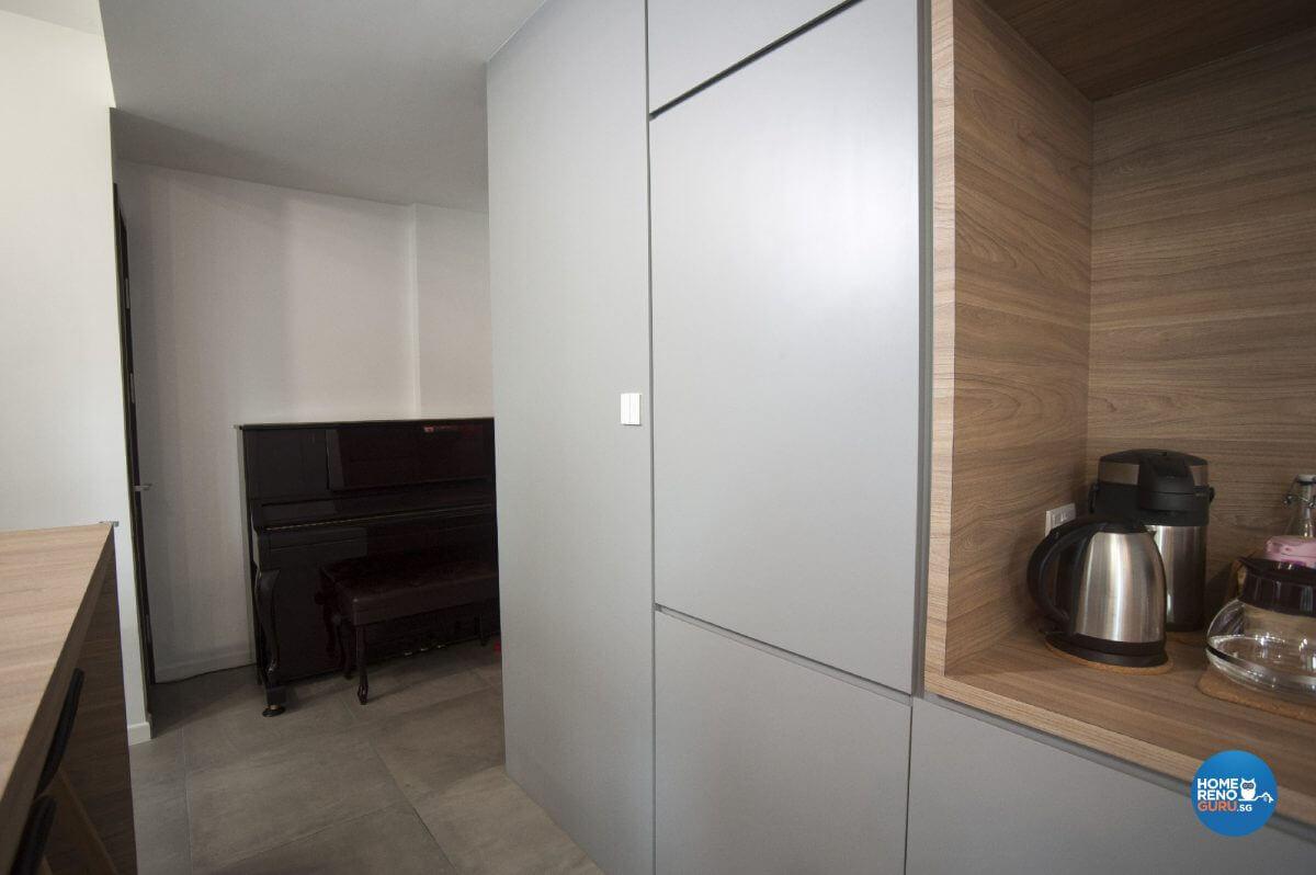 Pine And Grey Interior Design Living Corridor Side