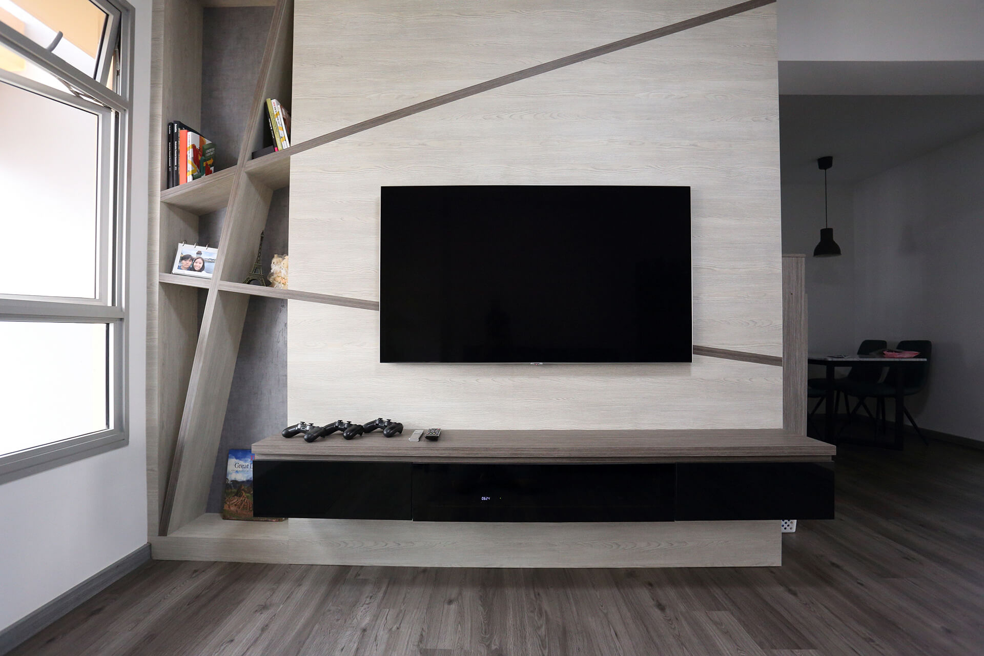 Minimalist Home Interior Design Singapore TV Console Full