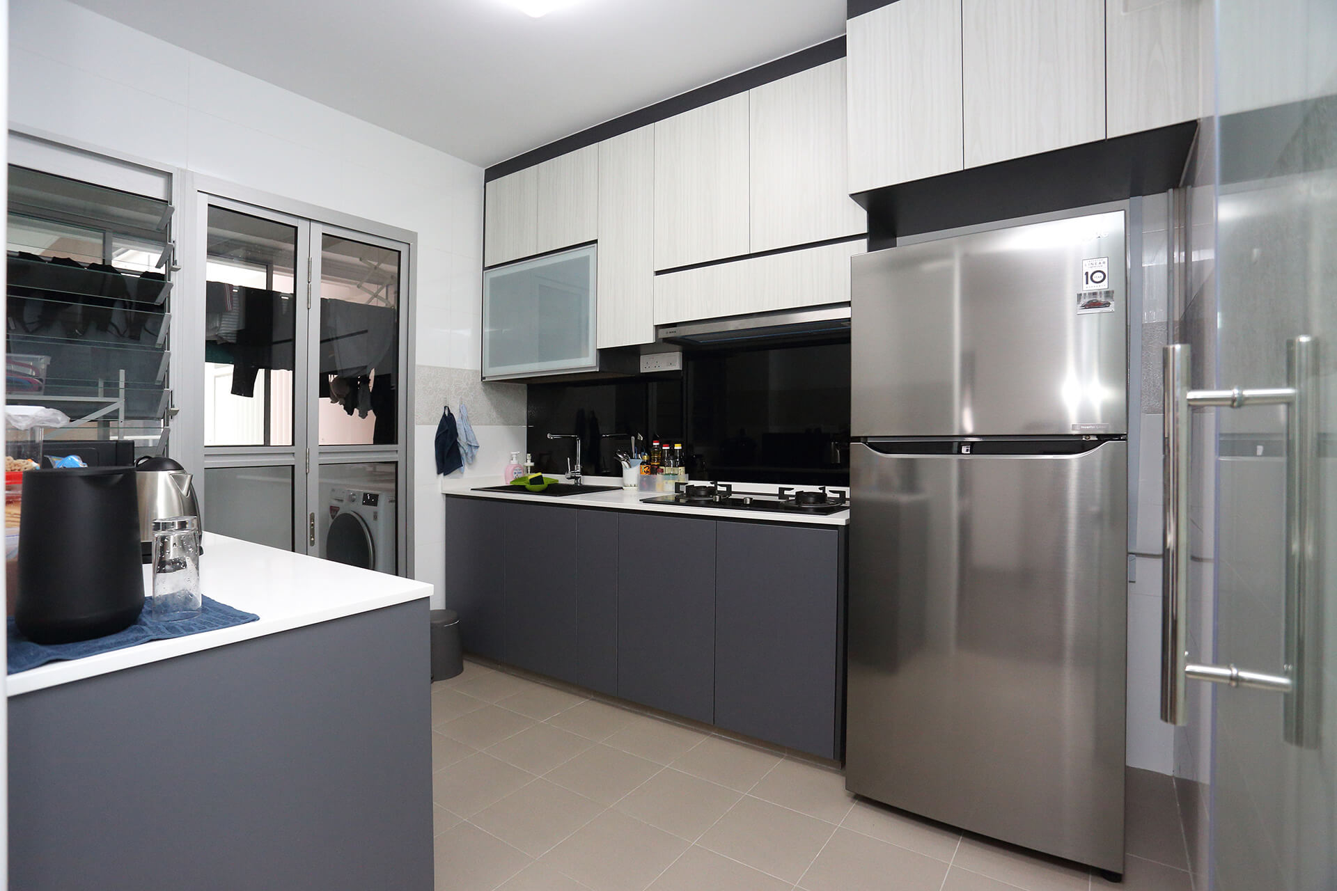 Minimalist Home Interior Design Singapore Kitchchen Full View with Wares