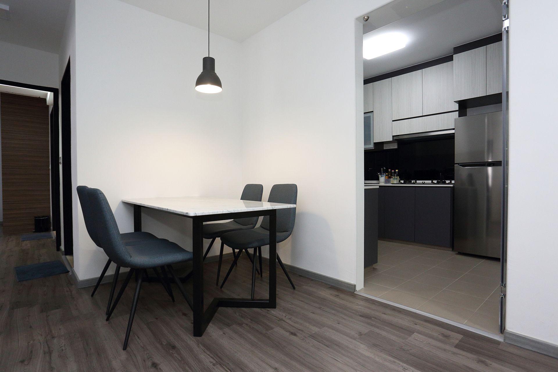 Minimalist Home Interior Design Singapore Dining Area View