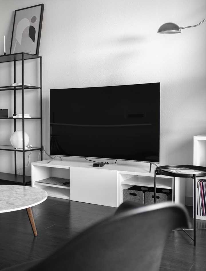 Scandinavian Interior Design Living Room With TV Console