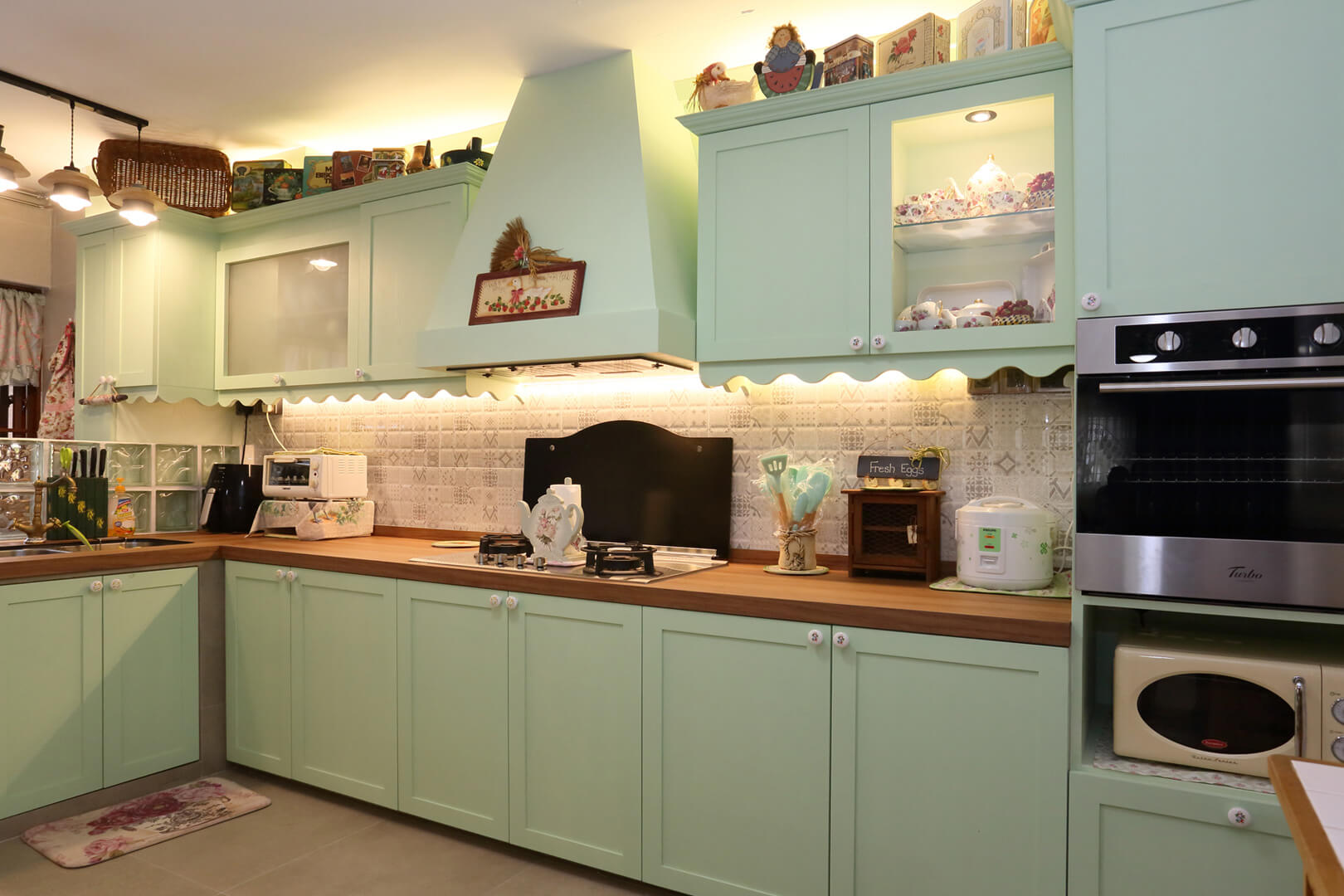 Country Chic Ambiance Interior Design kitchen Open View
